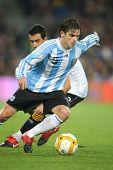 BARCELONA, SPAIN - DEC. 22: Argentinian player Fernando Gago in action during the friendly match bet