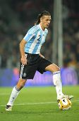 BARCELONA, SPAIN - DEC. 22: Argentinian player Martin Demichelis in action during the friendly match