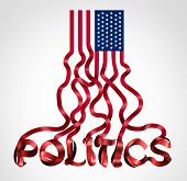 Us Politics And United States Government Political Symbol As An American Flag Shaped As Text As A Cr poster