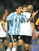 BARCELONA, SPAIN - DEC. 22: Argentinian player Di Maria in action during the friendly match between