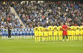 BARCELONA - MARCH 7: Minut of Silence for a earthquake Chilean victims before a Spanish League match