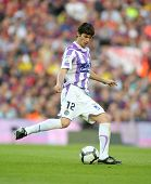 BARCELONA, SPAIN - MAY 16: Sereno of Valladolid during a Spanish League match between FC Barcelona and Valladolid at the Nou Camp Stadium on May 16, 2010 in Barcelona, Spain