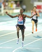 BARCELONA, SPAIN - JULY 27: Mo Farah of Great Britain winning the Men 10000m final during the 20th E