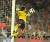 BARCELONA - AUGUST 25: Flavio Roma of AC Milan in action during Trophy Joan Gamper match between FC