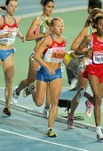 BARCELONA, SPAIN - JULY 28: Inga Abitova of Russia competes on the Women 10000m final during the 20t