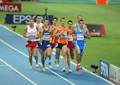 BARCELONA, SPAIN - JULY 29: Competitors of 800m Men during the 20th European Athletics Championships