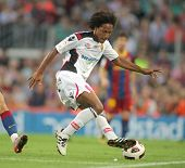 BARCELONA - OCT 3: de Guzman of Mallorca in action during spanish league match between FC Barcelona