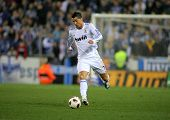 BARCELONA - FEB 13: Cristiano Ronaldo of Real Madrid during a spanish league match between Espanyol