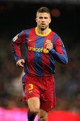 BARCELONA - 20 de FEB: Piqué de Barcelona durante el partido entre FC Barcelona y Athletic de Bilbao