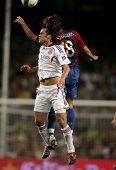 BARCELONA - AUG 22: Iranian player of Bayern Munich Ali Karimi during a friendly match between Bayer