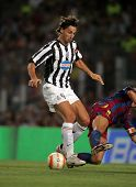 BARCELONA - AUG 24: Zlatan Ibrahimovic of Juventus in action during the friendly match between Barce