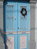 Greece Blue Door.