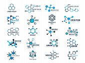 Molecular Logotypes. Evolution Concept Formula Chemistry Genetic Technology Medical Information Node poster