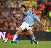 BARCELONA, SPAIN - AUG. 19: Manchester City's Slovak Vladimir Weiss during the match Trophy Joan Gam
