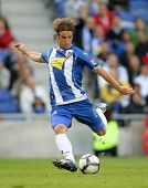 BARCELONA - OCTOBER 18: Ivan Alonso, Uruguayan player of Espanyol, in action during a Spanish league