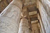 Columns In A Egyptian Temple