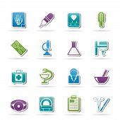 Ícones da área de saúde e medicina