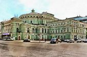 State Academic Mariinsky Theatre In St. Petersburg poster