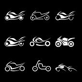 Motorcycles - Vector Icons