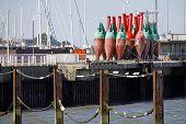 Buoy Yard In Cuxhaven (seaside Resorts Bridge)
