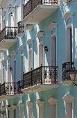 Iron Railings On Historic Caribbean Apartments