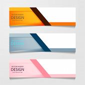 Vector Abstract Banner Design Web Template. Collection Of Web Banner Template. Abstract Geometric We poster