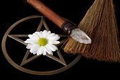 pic of pentacle  - close up of wiccan objects  - JPG