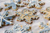 snowflake cookies - iced and ready to eat!
