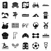 Water Recreation Icons Set. Simple Set Of 25 Water Recreation Icons For Web Isolated On White Backgr poster