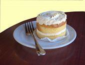 Layered vanilla cream cake