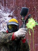 stock photo of splayed  - paintballs - JPG