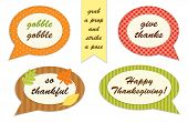 Cute Set Of Thanksgiving Speech Bubble Photo Booth Props poster