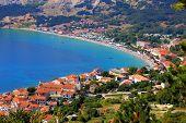 Adriatic Town Of Baska Aerial Panorama