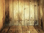 Inside Old Wooden Box Texture Background