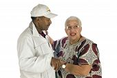 Elderly African American Woman And Man