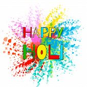Colourful Explosion For Happy Holi. Illustration Of Abstract Colorful Happy Holi Background. Indian  poster