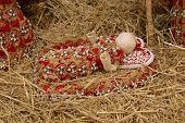 Baby Jesus, Nativity scene, creche, or crib, is a depiction of the birth of Jesus