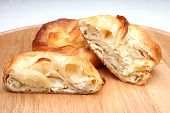 Burek (pie with cheese) is traditional Balkanian meal
