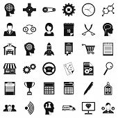 Business Choice Icons Set. Simple Style Of 36 Business Choice Icons For Web Isolated On White Backgr poster
