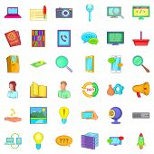 Tech Support Icons Set. Cartoon Style Of 36 Tech Support Icons For Web Isolated On White Background poster