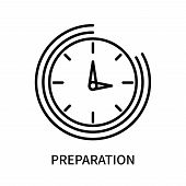 Preparation Icon Isolated On White Background. Preparation Icon Simple Sign. Preparation Icon Trendy poster
