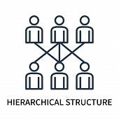 Hierarchical Structure Icon Isolated On White Background. Hierarchical Structure Icon Simple Sign. H poster