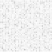 Abstract Matrix Background. Binary Computer Code. Coding. Hacker Concept. Vector Background Illustra poster