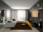 pic of model home  - Interior of the stylish apartment - JPG