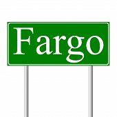 Fargo green road sign