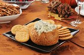 Spinach Artichoke Dip On A Holiday Table