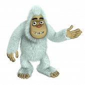 foto of bigfoot  - 3 d cartoon cute white bigfoot toy - JPG