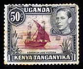 Sailing Ship On A Lake Victoria