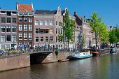 Historic Houses Along The Amsterdam Canal