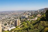 View From Mount Carmel To Haifa In Israel